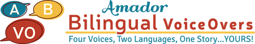 Amador Bilingual Voiceovers Logo with Tagline